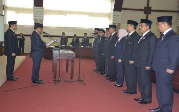 Gubernur Lantik Delapan Pejabat Eselon II,  Hasil Lelang Jabatan